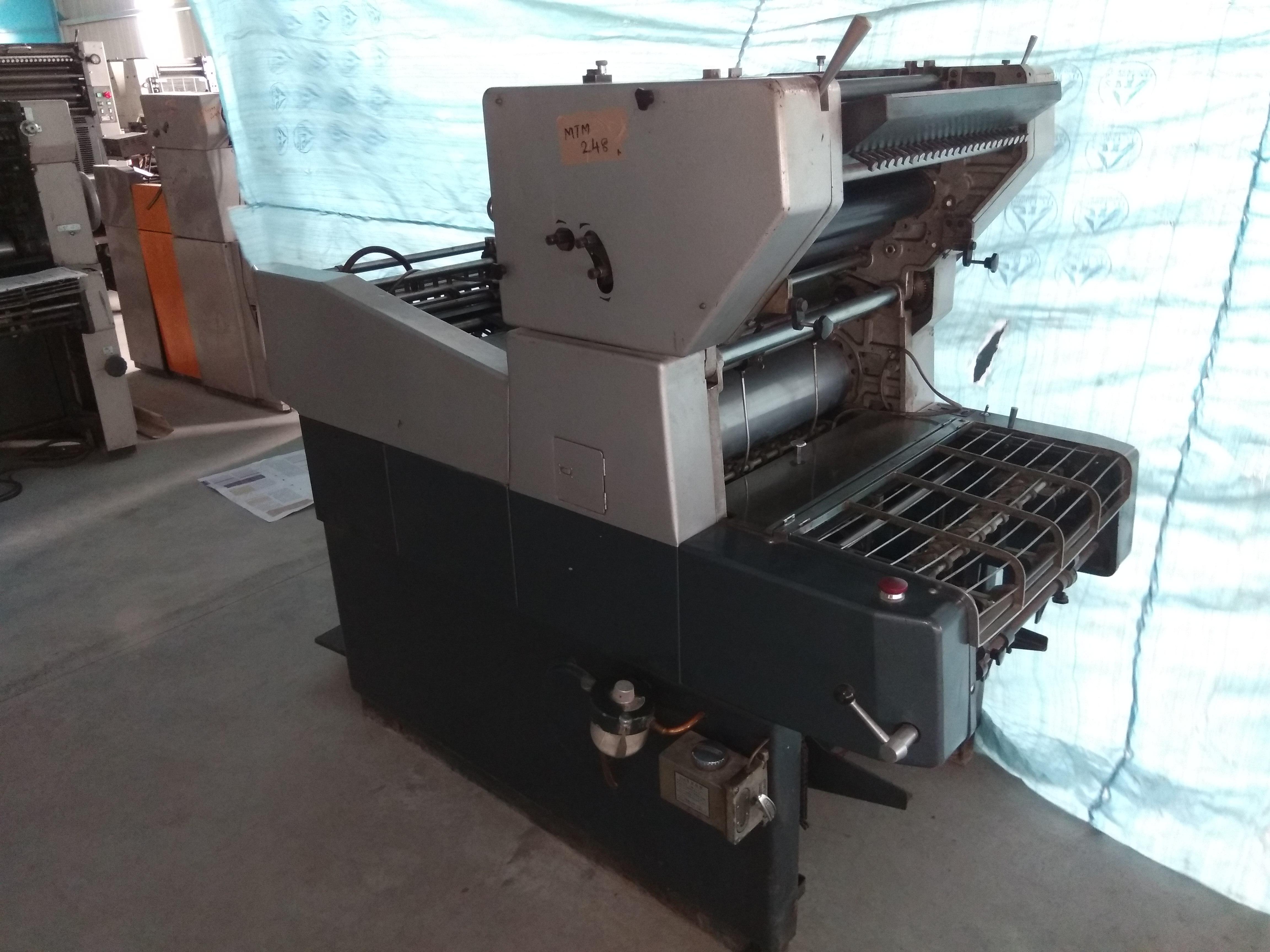 Mtm 248 baby offset single colour machine publicscrutiny Images